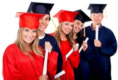 Graduation group Stock Photo