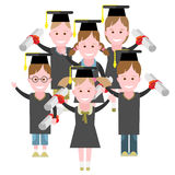 Graduation group of kids Royalty Free Stock Image