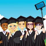 Graduation Group Selfie Royalty Free Stock Images