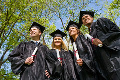 Graduation: Group of Students Look to the Future Royalty Free Stock Photo