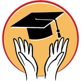 Graduation hands Stock Photography
