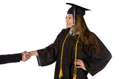 Graduation handshake Royalty Free Stock Images