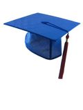 Graduation Hat. And tassle isolated on white Stock Images