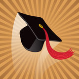 Graduation Hat. A graduation hat is thrown into the air Royalty Free Stock Image