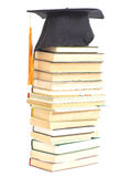 Graduation Hat with books Royalty Free Stock Photos