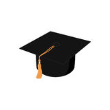 Graduation hat illustration. Graduation cap drawing Royalty Free Stock Photography