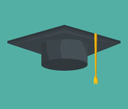 Graduation hat isolated icon Royalty Free Stock Photography