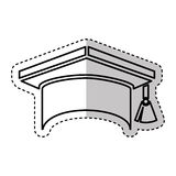 Graduation hat isolated icon Royalty Free Stock Images