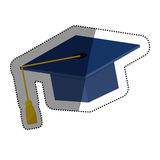 Graduation hat isolated. Icon  illustration graphic design Stock Photo