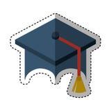 Graduation hat isolated icon Royalty Free Stock Photo