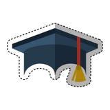 Graduation hat isolated icon Royalty Free Stock Image