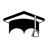 Graduation hat isolated icon Stock Photo