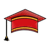 Graduation hat isolated icon. Vector illustration design Royalty Free Stock Image