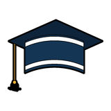 Graduation hat isolated icon. Vector illustration design Stock Photography