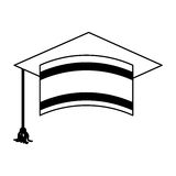 Graduation hat isolated icon. Vector illustration design Stock Photos