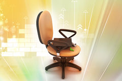 Graduation hat in office chair Royalty Free Stock Photos
