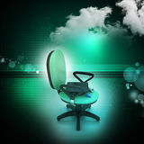Graduation hat in office chair Stock Photography
