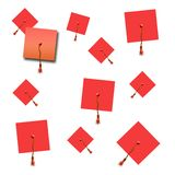 Graduation hat scrapbook Stock Photos
