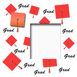 Graduation hat scrapbook Stock Photo