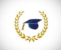 Graduation hat tassel around a laurel leaves Stock Photos