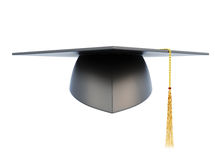 Graduation hat on white background stock illustration