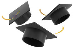 Graduation hat on white background Royalty Free Stock Images