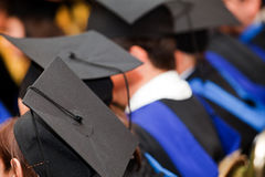 Graduation hats Stock Images