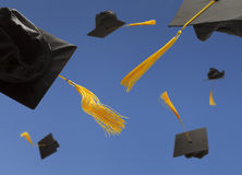 Graduation Hats Royalty Free Stock Photo
