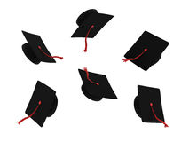 Graduation hats Royalty Free Stock Images