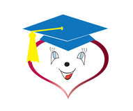 Graduation heart Stock Images