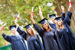 Graduation heureuse Photos stock