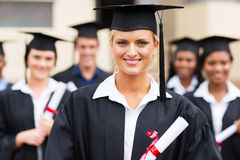 Graduation holding diploma Royalty Free Stock Photography