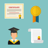 Graduation icon design Stock Photography