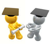 Graduation icon figure Royalty Free Stock Photos