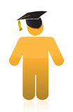 Graduation icon illustration design Royalty Free Stock Photos