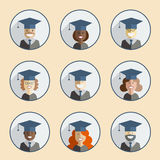 Graduation Icon Set Stock Photos
