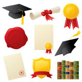 Graduation Icons Royalty Free Stock Image