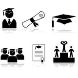 Graduation icons Stock Photo