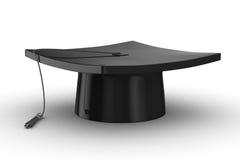 Graduation. Image 3D d'isolement sur le blanc Images stock