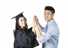Graduation Joy Royalty Free Stock Photos