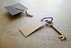 Graduation key Royalty Free Stock Image