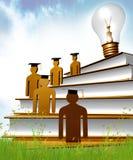 Graduation, Knowledge And Scholarship Icon Stock Image