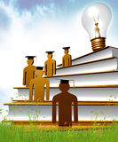 Graduation, knowledge and scholarship icon Stock Image