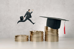 Graduation, knowledge and success concept Stock Photos