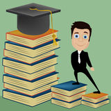 The graduation of knowledge Stock Photography