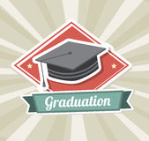 Graduation label Royalty Free Stock Images