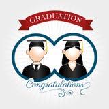 Graduation label Stock Image