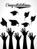 Graduation label Stock Images