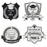 Graduation labels set - vector Royalty Free Stock Photo