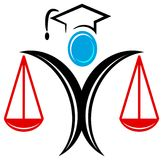 Graduation logo. Isolated line art graduation logo Royalty Free Stock Images